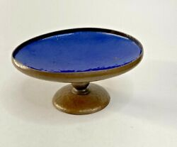 Antique Pairpoint Hammered Copper Compote Enamel GL460 Footed Arts amp; Crafts $75.00