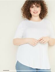 Old Navy Womens Short Sleeve Tee White Plus Size 3X $15.00
