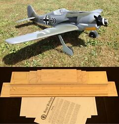 60.75quot; Ws FOCKE WULF FW 190 A 8 Rc Plane short kit partial kit amp; plans PLS READ $130.00