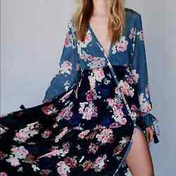Free People Mixed Floral Maxi Dress xs $105.00