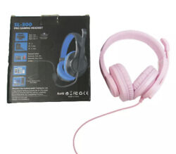Headset Gaming for PC PS4 Mac Xbox One Controller Wired Headphones with Mic Pink $25.00
