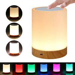LED Touch Sensor Dimmable Table Lamp Room Sleeping Aid Bedside Night Light Home $13.97