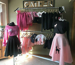 HUGE LOT 50s Poodle Skirts amp; Shirts Rockabilly Dance Theater 58 Pieces $300.00