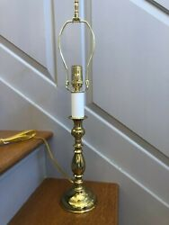 Virginia Metalcrafters Tulip Style Brass Lamp 3 way switch 24quot; tall w finial $120.00