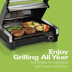 Hamilton Beach Electric Indoor Searing Grill Removable Easy To Clean Nonstick Pl $82.99