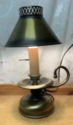Vintage Brass Electric Table Lamp with Brass Shade 13quot; tall x 7quot; in diameter $34.99