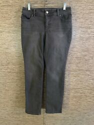 Chicos So Slimming Jeans Womens Size 0 Grey Wash Stretch $19.00