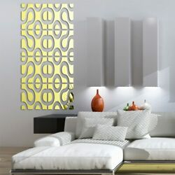 Wall Stickers Big 3D Decor Modern Acrylic Living Home Large Mirror Surface DIY $18.99