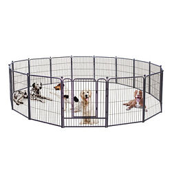 Dog Pen 32 Inch Height in Heavy Duty Folding Indoor Outdoor Anti Rust Dog Fence $189.98