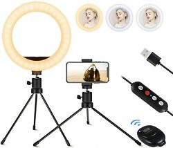 8quot; Selfie Ring Light Mini Ring Light with Tripod Stand and Phone Holder $23.99