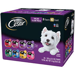 Cesar Canine Cuisine Wet Dog Food 8 Flavor Variety Pack Classic Loaf in Sauce $28.46