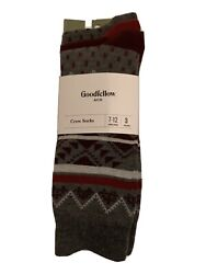 Goodfellow amp; Co Mens Size 7 12 Socks Heather And Grey Dress Socks 3pack $6.60