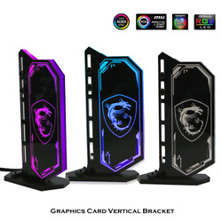 Vertical GPU Bracket RGB Acrylic Graphics Card Holder VGA Stand Support SYNC Kit $34.95