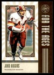 2020 Panini Legacy For the Ages #17 John Riggins $1.50
