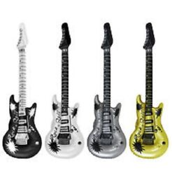 INFLATABLE BLOW UP GUITAR ROCK amp; ROLL FANCY DRESS PARTY NOVELTY pack of 1 GBP 3.99