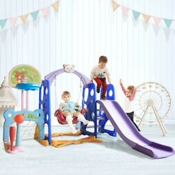 Kids Playground 6 In 1 Swing Set Baby Child Outdoor Backyard Large Play Climber $168.78