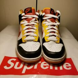 nike dunk high size 7 black yellow orange white $125.00