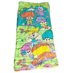 Vintage 90s Kids Treasure Trolls Sleeping Bag Novelty Kids Bedding Camping Bag $50.00