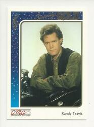 1992 STERLING CMA COUNTRY GOLD MUSIC ROOKIE CARD RANDY TRAVIS # 30 FOIL PARALLEL