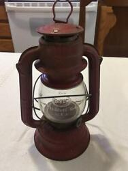 VINTAGE RED DIETZ COMET 9quot; ELECTRIC BATTERY OPERATED LANTERN MISSING BULB BOTTOM $32.00