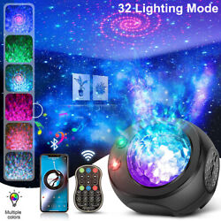 Galaxy Projector Starry Sky Night Light Ocean Star Party Speaker LED Lamp Remote $30.55