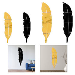Modern Home Decor 3D Acrylic Mirror Leather Wall Stickers Removable Art Decals $16.43