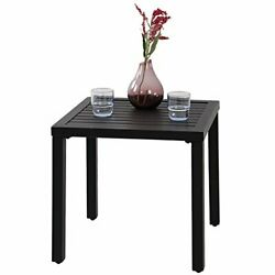 Indoor Outdoor Small Metal Square Side End Table Patio Coffee Bistro Table $91.81