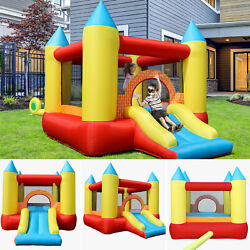 Bounce House with Slide Blower Bag Castle Inflatable Bouncer for 3 kids Play $189.99