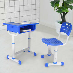 Kids Desk And Chair Set Height Adjustable Ergonomic Study School Writing Desk $44.41