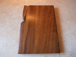 Vintage English Walnut Mid Modern Cheese Board and Stainless Knife Set London $18.50