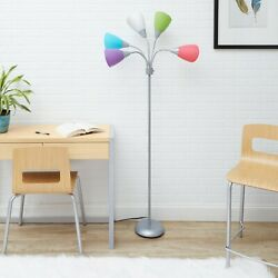 High Five Floor Lamp with Five Color Shades with Multi Color Shade $59.09