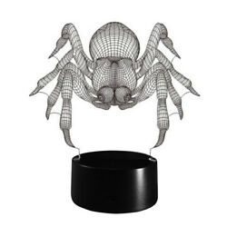 1Pc Table Lamp Spider Design Acrylic Desk Lamp Night Light for Bedroom TV Room $13.08
