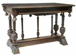 Antique Table French Renaissance Revival Carved Walnut Handsome 1800#x27;s $1894.25
