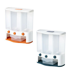 6L Wall Mount Plastic Cereal Dispenser Grains Food Container Kitchen Bin $41.53