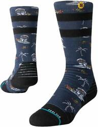 ​STANCE KIDS UNISEX SOCKS SPACE MONKEY Y NAVY LARGE $13.95