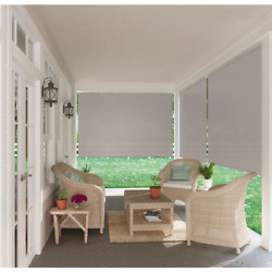 Outdoor Patio Porch Deck Roller Blind Sun Shade Roll Up Exterior 72quot; W x 72quot; L $48.97