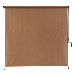 Outdoor Patio Porch Deck Roller Blind Sun Shade Roll Up Exterior 72quot; W x 96quot; L $102.47