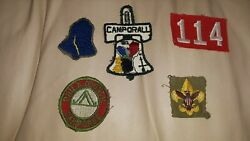 FIVE VINTAGE BOY SCOUT PATCHES CAMPORALL PHILADELPHIA COUNCIL LIBERTY BELL 1950s $29.99