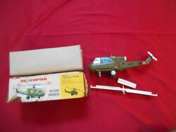 1960s Very Good Battery Operated Helicopter with Whirling Lighted Blades $38.00