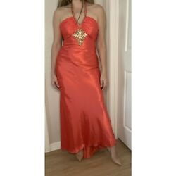 Morgan And Co Orange Prom Formal Dress Size 8