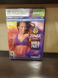 Zumba Fitness World Party for XBOX 360 System Brand New Factory Sealed $19.95