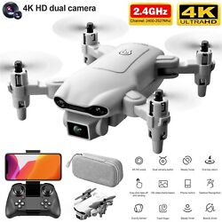 2021 New RC Drone 4k HD Wide Angle Camera WIFI FPV Drone Dual Camera Quadcopter $37.86