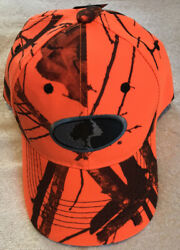 MOSSY OAK HUNTER ORANGE CAMO HAT
