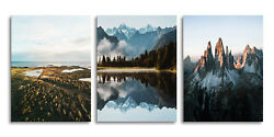 3 Piece Canvas Wall Art Mountains Canvas Prints Nature Landscape Wall Paintings $27.99