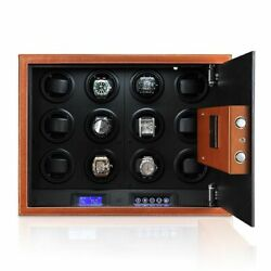 Automatic Watch Winder 12 Watches Security Safe Winding Box Password Lock $3341.99
