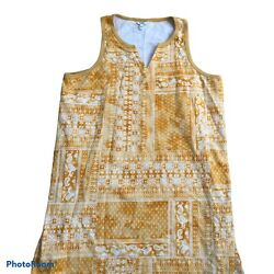 Sonoma Tunic Cover Up Sun Dress Women#x27;s Size XL Yellow Sleeveless NEW $13.99