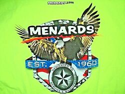 MENARDS Home Improvement Store Est.1960 NEW Neon Double Sided Staff T Shirt 2XL $39.88