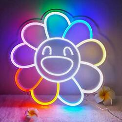 Big Sunflower Neon Sign for Wall Bedroom Home Office Decor for Holiday $131.14
