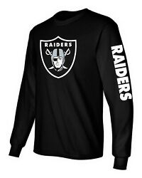Las Vegas Raiders black long sleeve shirt