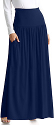 Reg and Plus Size Maxi Skirts for Women Long Length Skirts with Pockets Beach Sw $31.99